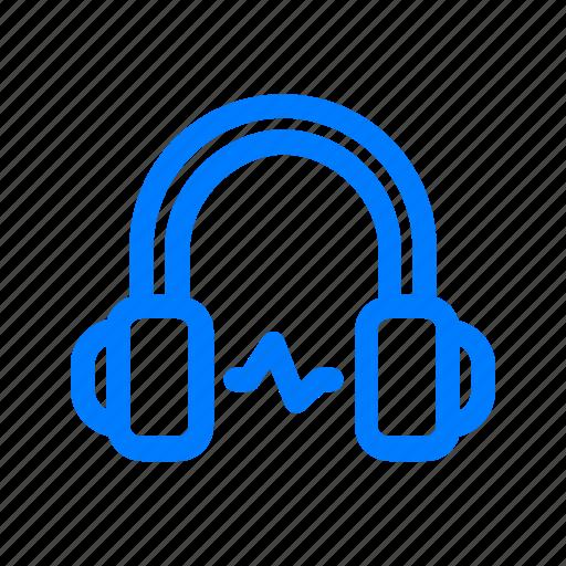 headphones, music, sound, volume icon