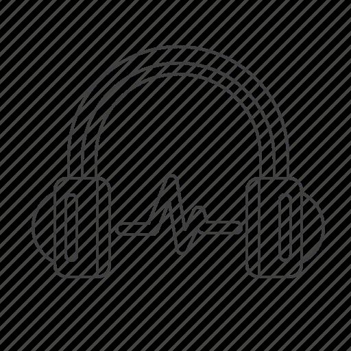 headphone, multimedia, music icon