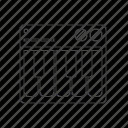 multimedia, music, piano icon