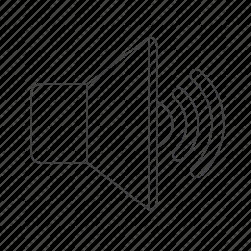 audio, loudspeaker, multimedia, sound icon