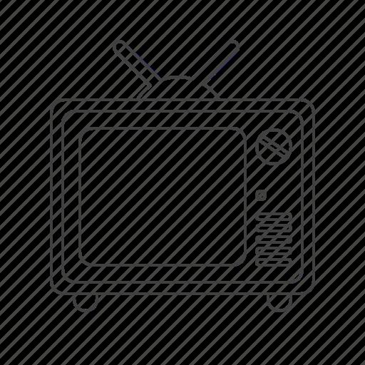 multimedia, tv icon