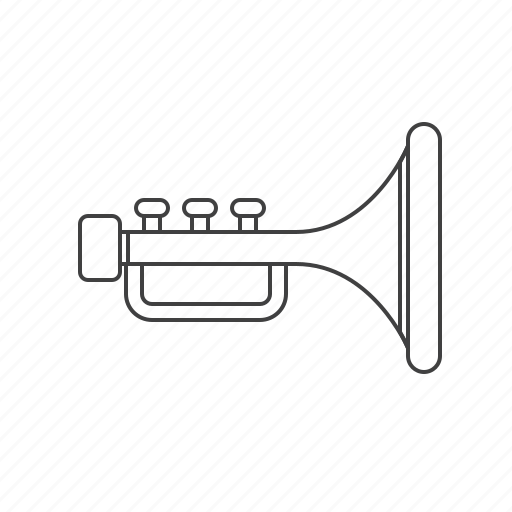 multimedia, trumpet icon