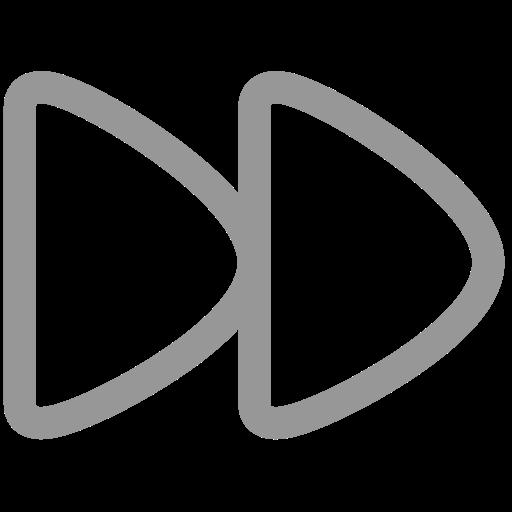 audio, fast, forward, media, music, next, play icon