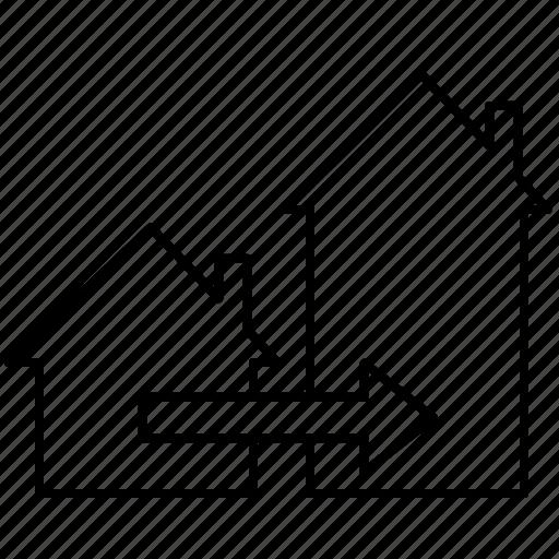 bigger, house, hunting, move icon