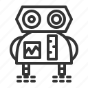 artificial intelligence, engine, humanoid, machine, neural, robot, robotics icon