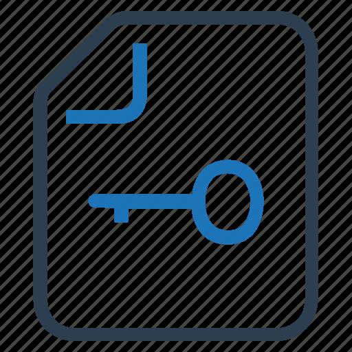 document, file, key, key file, keyword creation, keywords icon