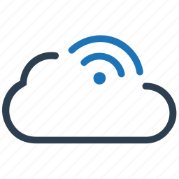 cloud, cloud network, connection, network, sharing, wifi icon