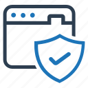 browser, protection, security, shield, web, web protection icon