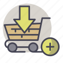 shopping, add, basket, buy, ecommerce