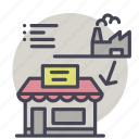 shopping, first hand, distributor, ecommerce, supplier icon