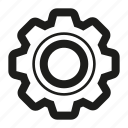 cog, custom, gear, line, preferences, setting icon