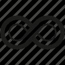 continius, infinity, line icon