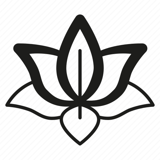 flower, line, lorus, meditation, organic, yoga icon