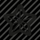 line, star icon