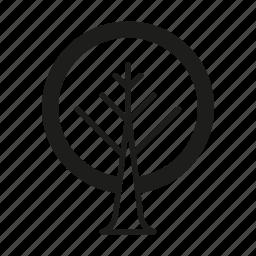 line, organic, tree icon