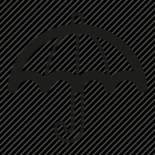 forecast, insurance, line, rain, sign, umbrella icon