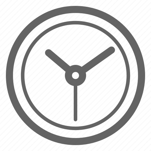 clock, company, general, line, office, universal icon