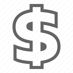 currency, finance, investment, line, money, stock icon