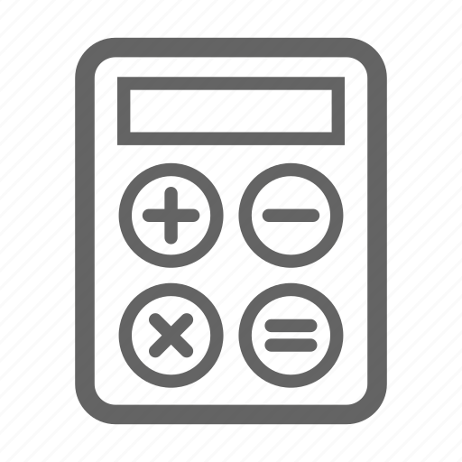 calculator, currency, finance, line, money, stock icon