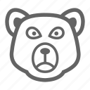 bear, currency, finance, line, money, stock icon