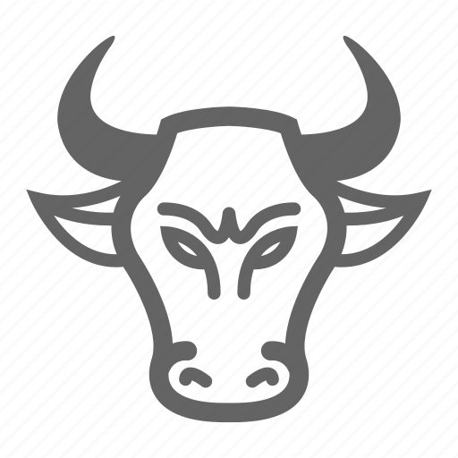 Bull, currency, finance, line, money, stock icon - Download on Iconfinder