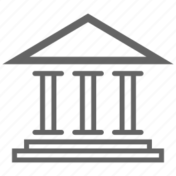 bank, currency, finance, line, money, stock icon