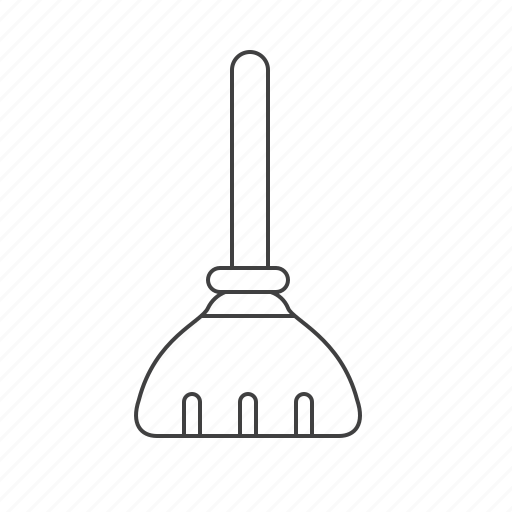 besom, broom, clean, outline, tools icon