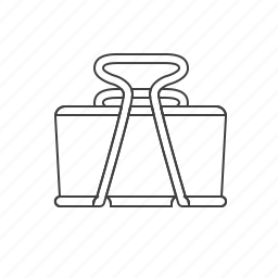 clamp, clip, outline, tools icon