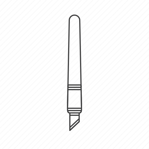 cutter, outline, slices, tools icon