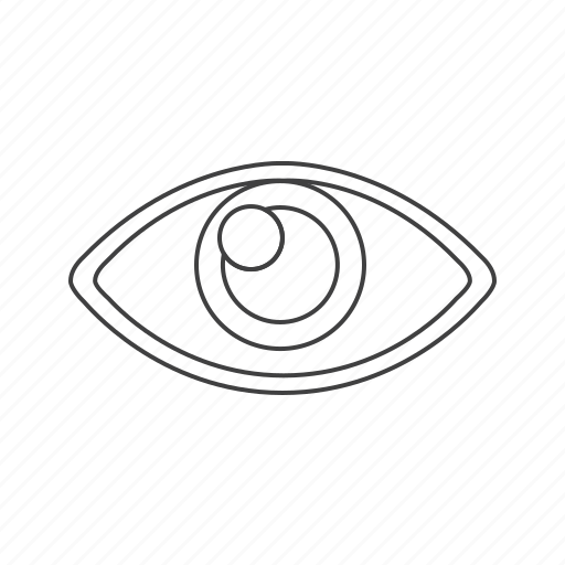 eye, outline, tools, view icon