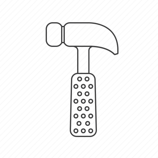 hammer, outline, tools icon