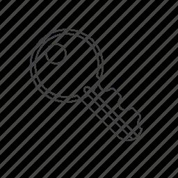 key, outline, password, tools icon