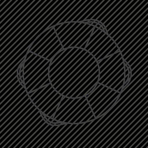 lifebuoy, outline, tools icon