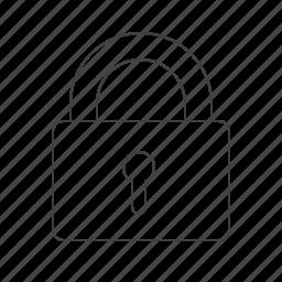 encryption, lock, outline, tools icon