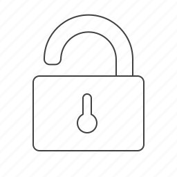 decrypt, lock, outline, tools icon