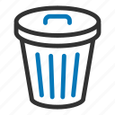 can, delete, garbage, garbage can, recycle bin, remove, trash icon