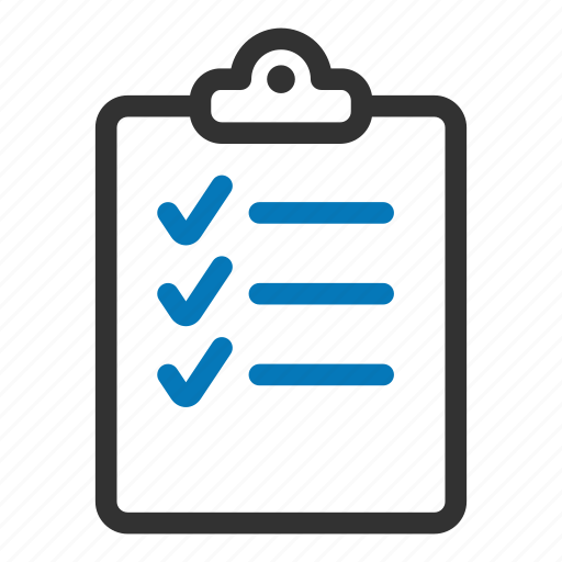 check, checklist, clipboard, list, survey, tasks, tick icon