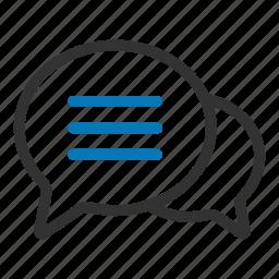 bubbles, chat, comment, conversation, sms, social, talk icon