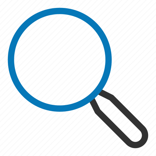 find, glass, magnify, search icon