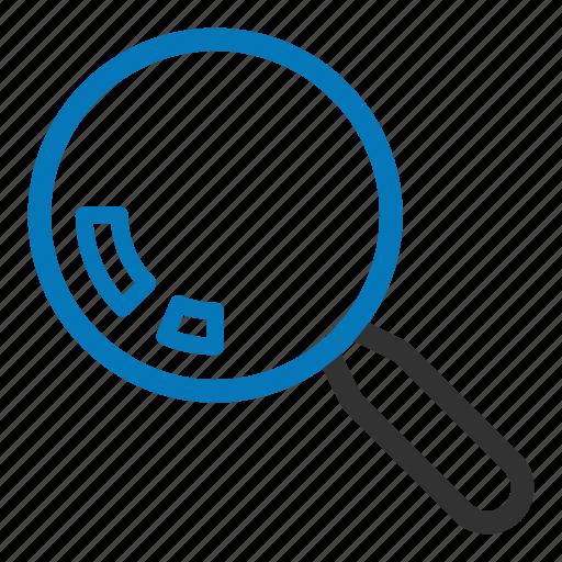 explore, find, glass, magnify, search icon