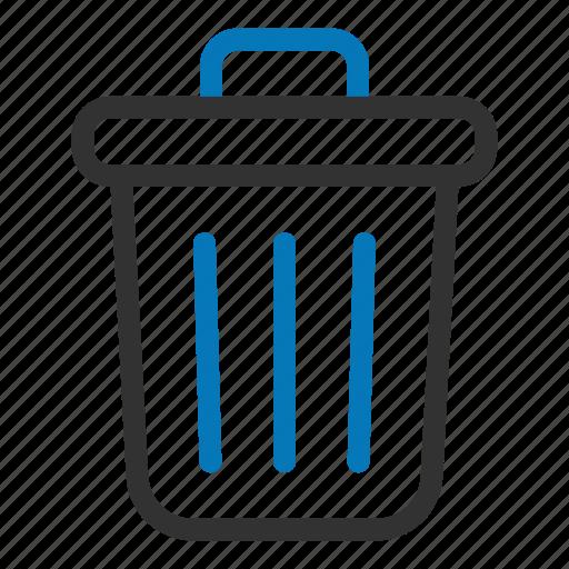bin, can, delete, garbage, recycle bin, remove, trash icon
