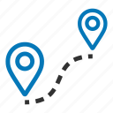 location, map, navigation, pin, place, road, roadmap icon