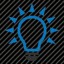 bulb, concept, creative, idea, lamp, light bulb, lighting icon