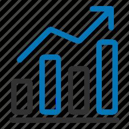analytics, bars, chart, graph, growth, presentation, statistics icon