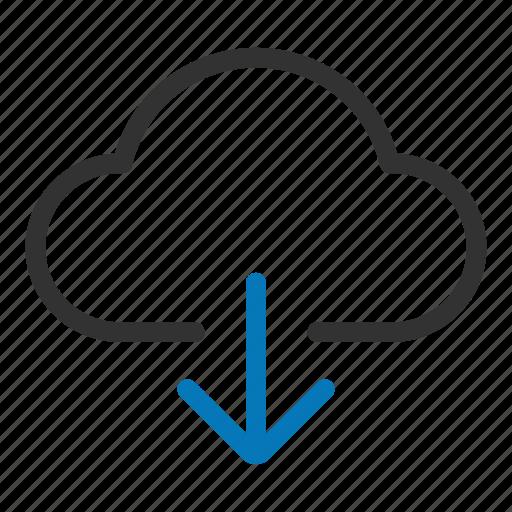 cloud, disk, download, forecast, guardar, save, server, storage icon