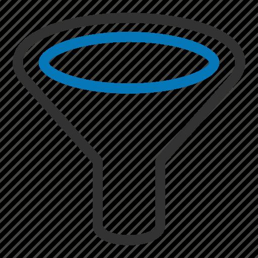 filter, filtering, funnel, liquid, sort icon