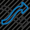 arrows, mixed, random, shuffle icon