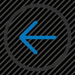 arrow, back, left, return icon