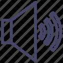 audio, high, multimedia, sound, volume, waves