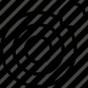 bullseye, focus, goal, shooting, target icon